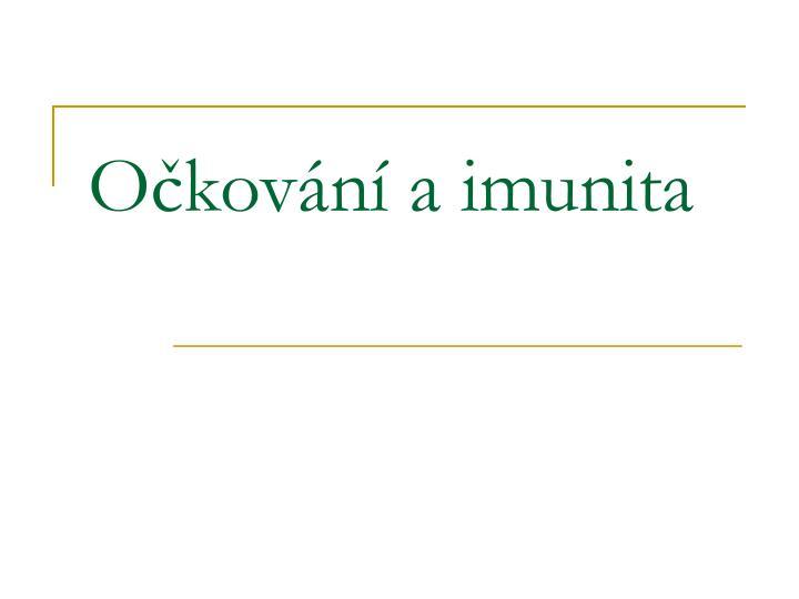 Očkování a imunita