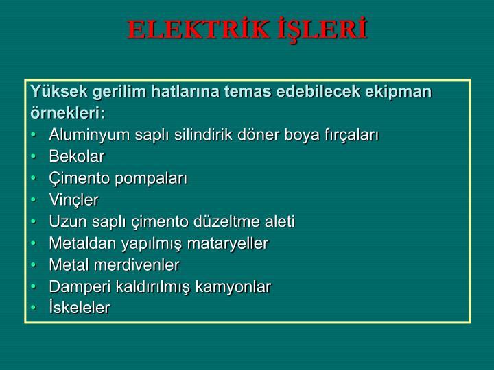 ELEKTRİK İŞLERİ