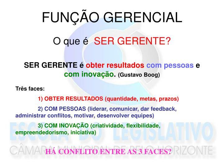 FUNÇÃO GERENCIAL