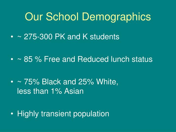 Our school demographics