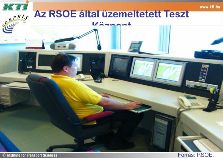 Az RSOE által üzemeltetett