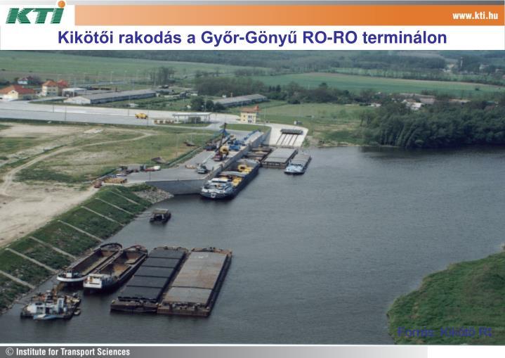 Kikötői rakodás a Győr-Gönyű RO-RO terminálon