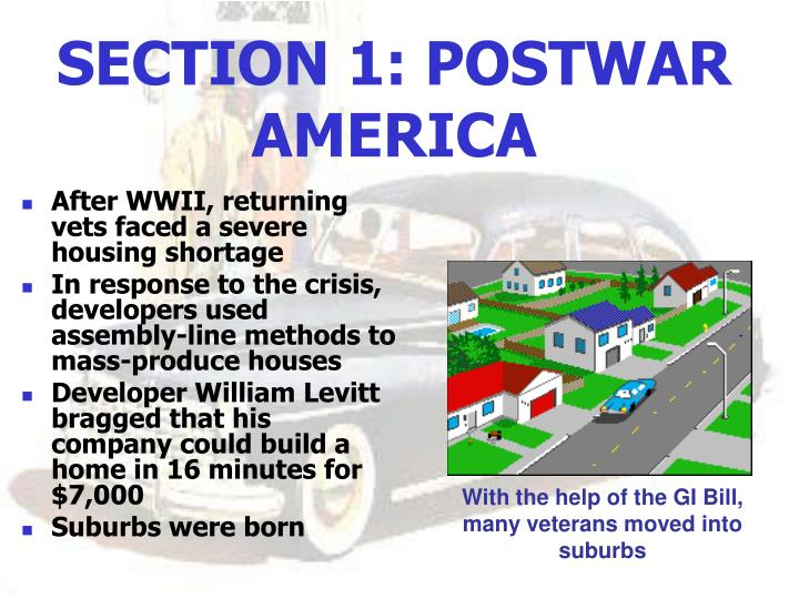 SECTION 1: POSTWAR AMERICA