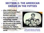 section 2 the american dream in the fifties