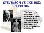stevenson vs ike 1952 election