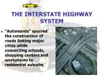 the interstate highway system