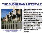 the suburban lifestyle