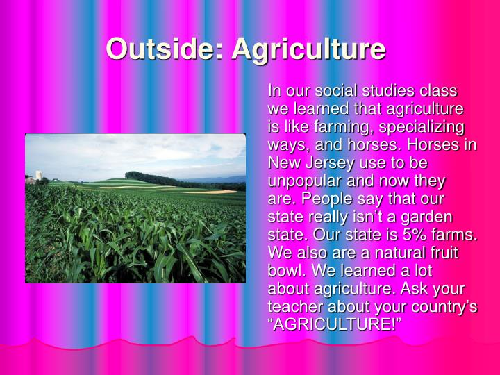 Outside: Agriculture