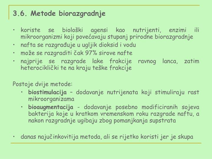 3.6. Metode biorazgradnje