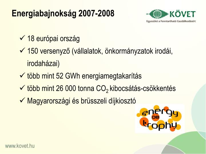 Energiabajnokság 2007-2008