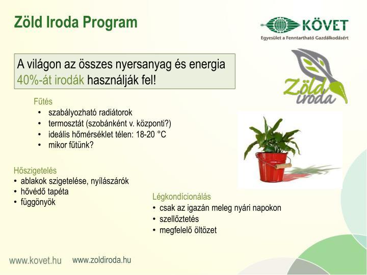 Zöld Iroda Program
