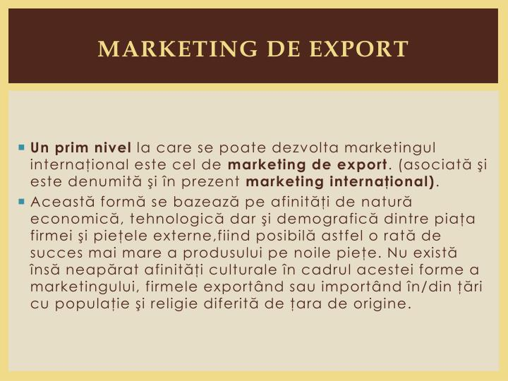 marketing de export