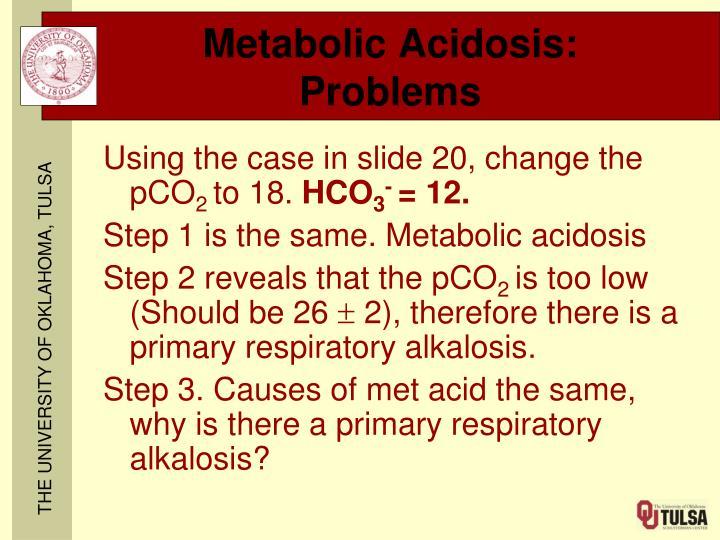 Metabolic Acidosis: