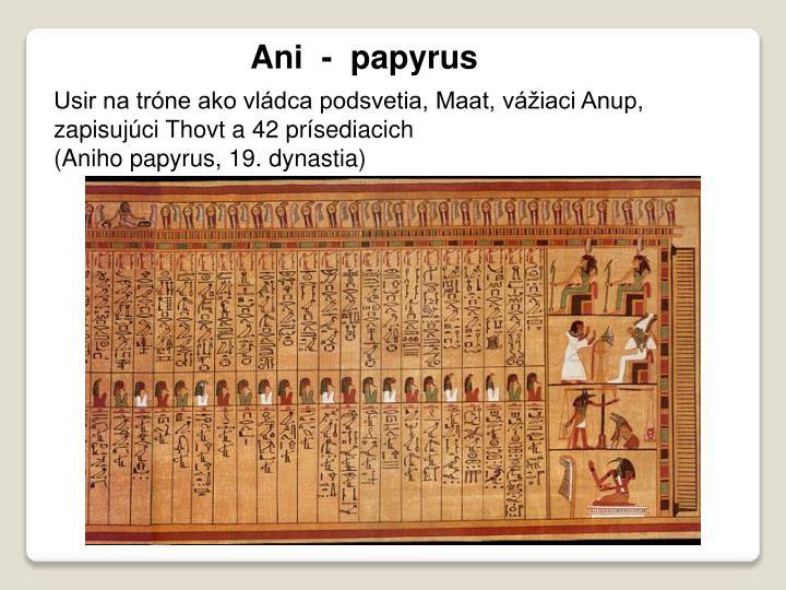 Ani  -  papyrus
