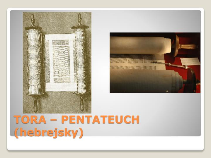 TORA – PENTATEUCH (hebrejsky)