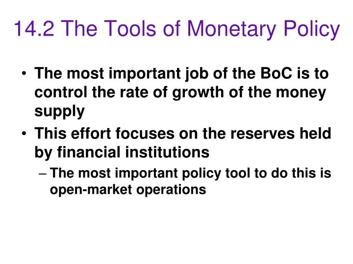 14.2 The Tools of Monetary Policy