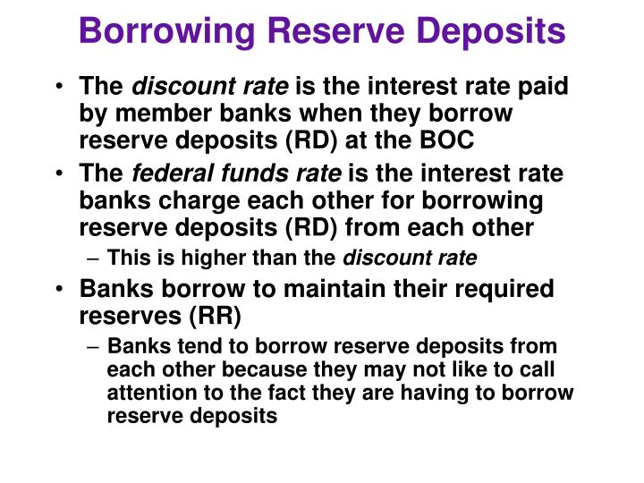 Borrowing Reserve Deposits