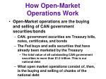 how open market operations work