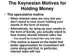 the keynesian motives for holding money2