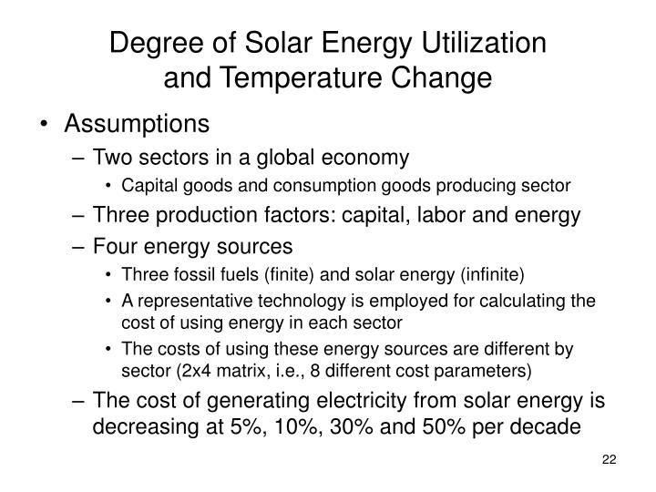 Degree of Solar Energy Utilization