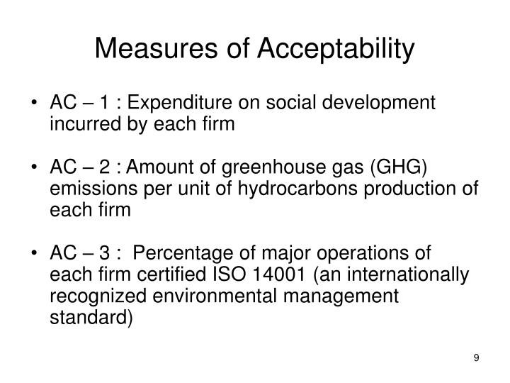 Measures of Acceptability