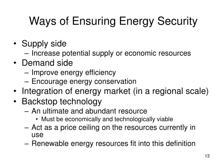 Ways of Ensuring Energy Security
