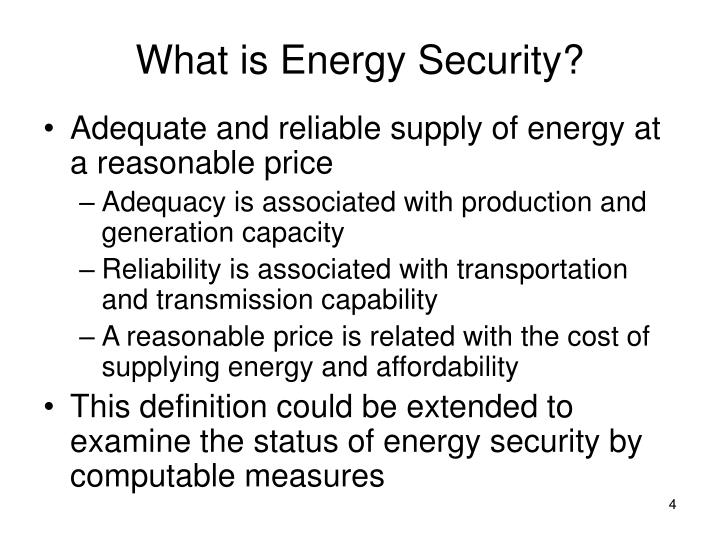 What is Energy Security?