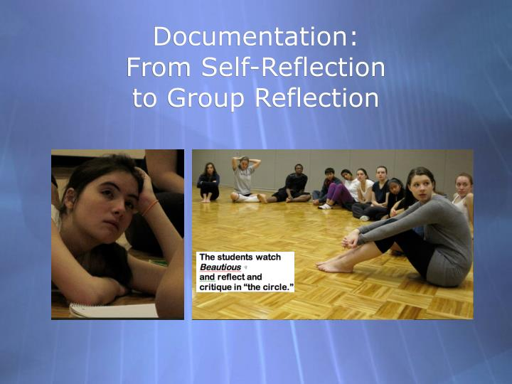 Self reflection for group presentation