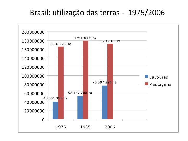 Brasil: utilização das terras -  1975/2006