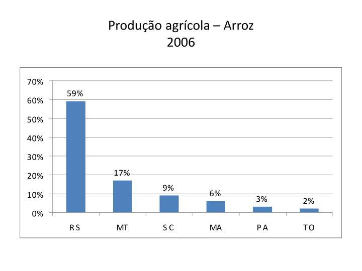 Produção agrícola – Arroz