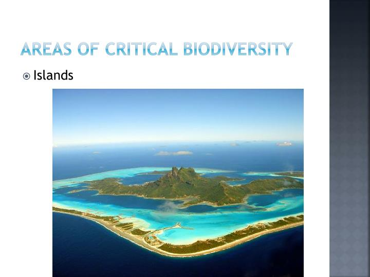 Areas of Critical Biodiversity