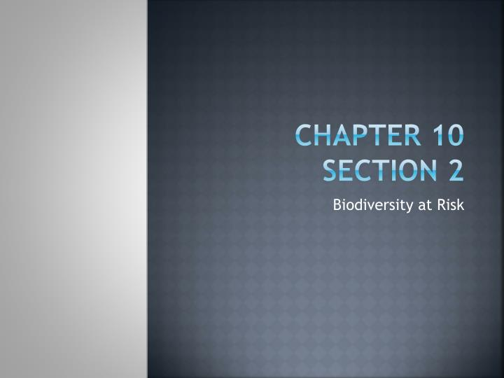 Chapter 10 section 2