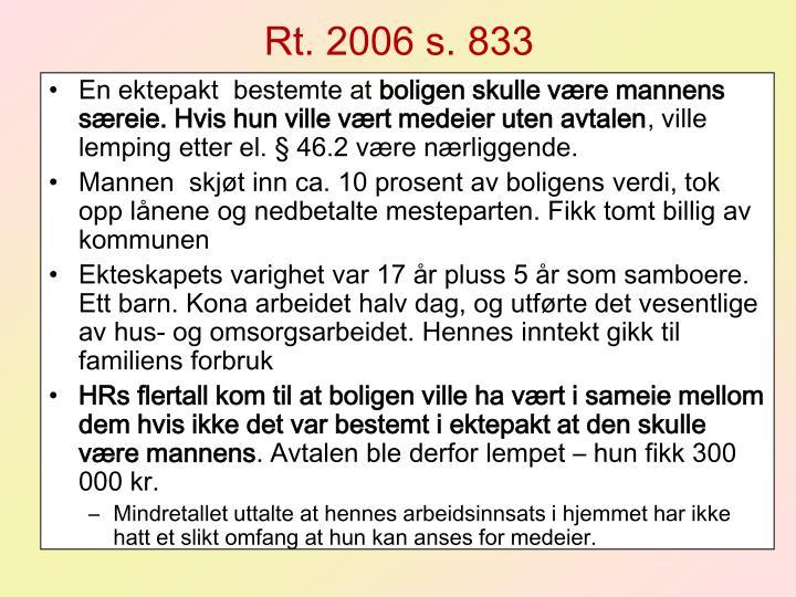 Rt. 2006 s. 833