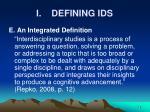 i defining ids12