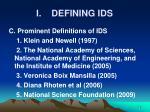 i defining ids8