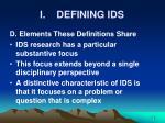 i defining ids9