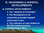 iii headwinds hopeful developments2