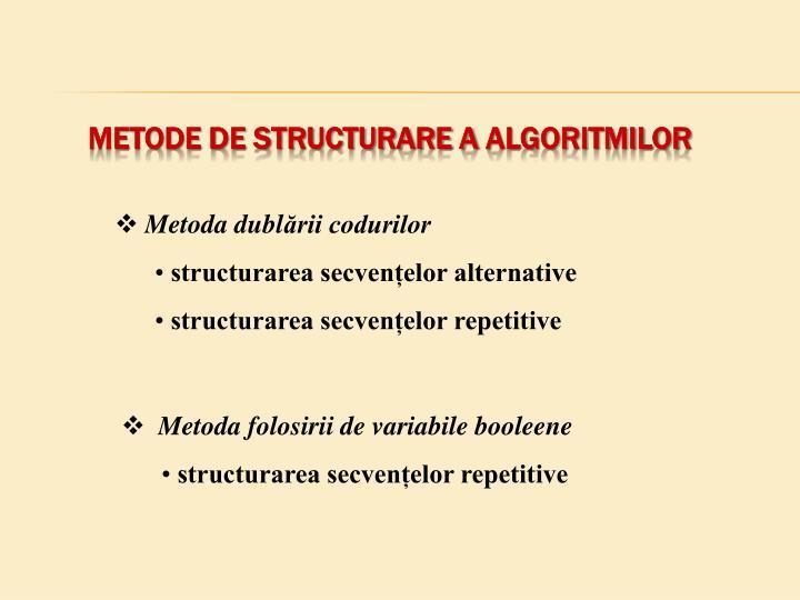 Metode de structurare a