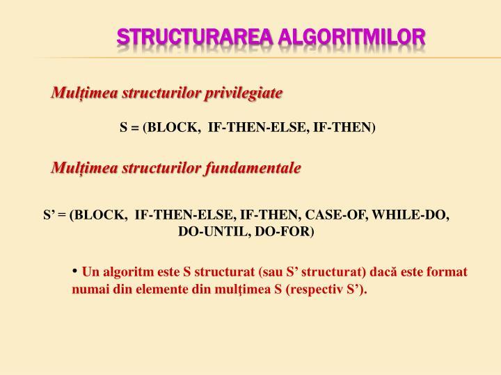 Structurarea