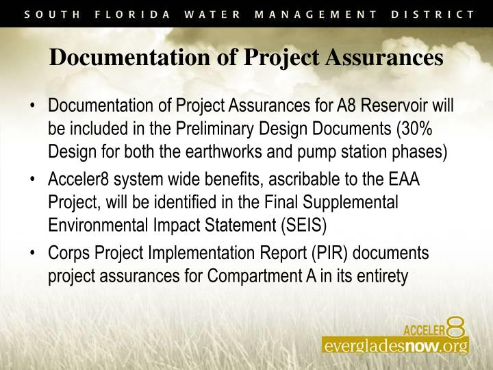 Documentation of Project Assurances