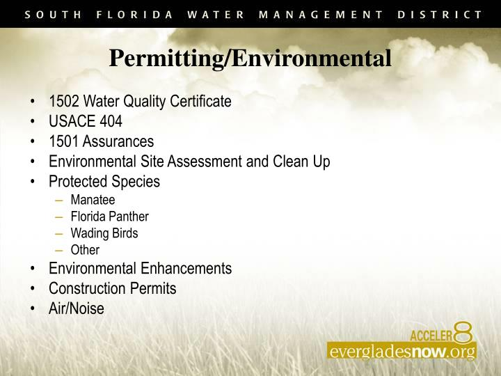 Permitting/Environmental