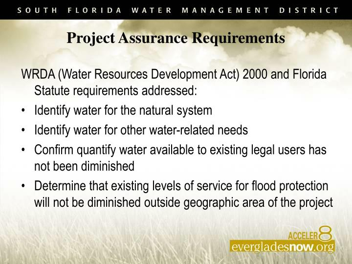 Project Assurance Requirements