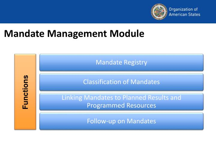 Mandate Management Module