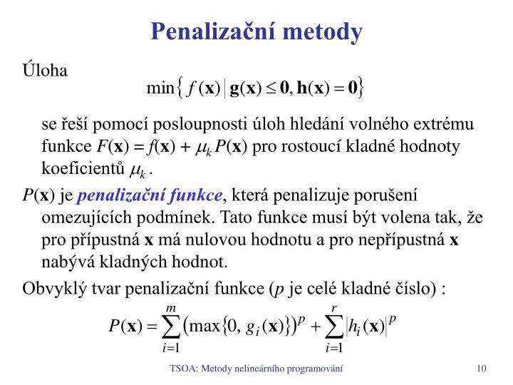 Penalizační metody