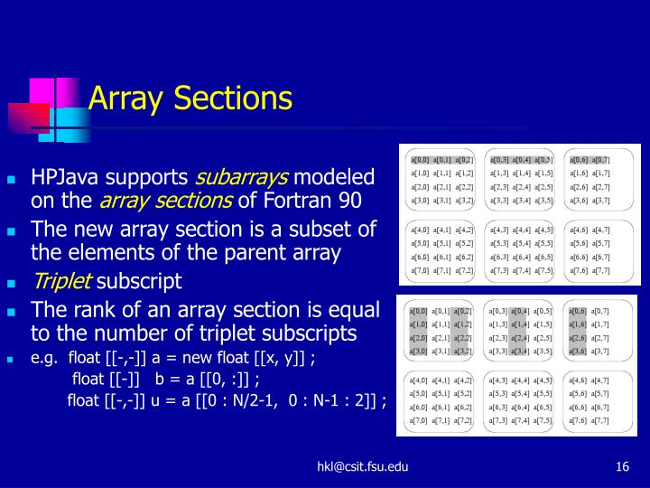 Array Sections