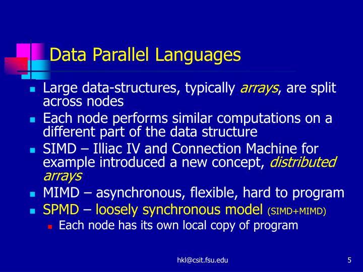 Data Parallel Languages