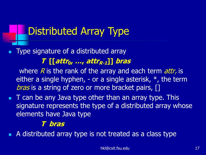 Distributed Array Type