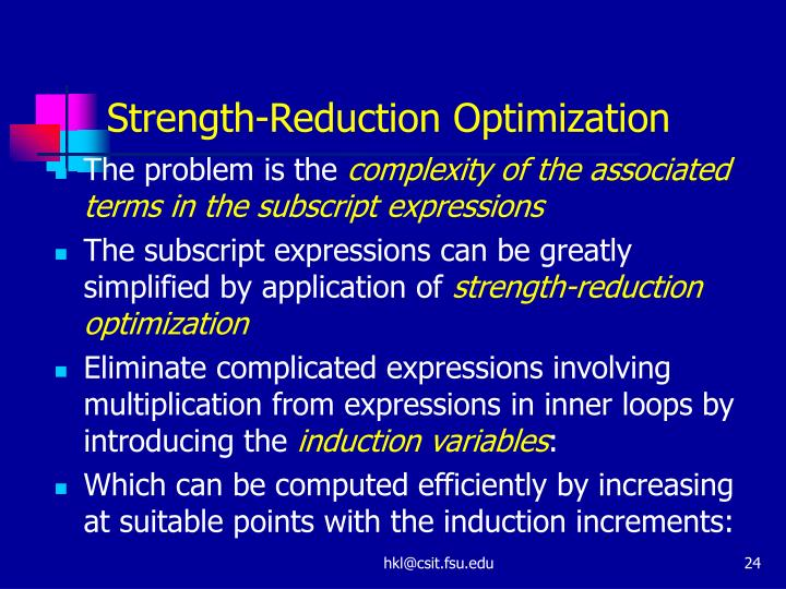 Strength-Reduction Optimization