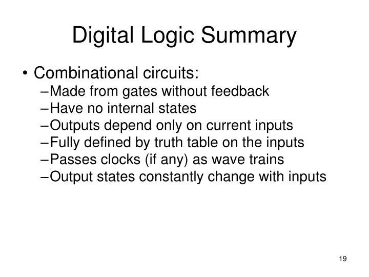Digital Logic Summary