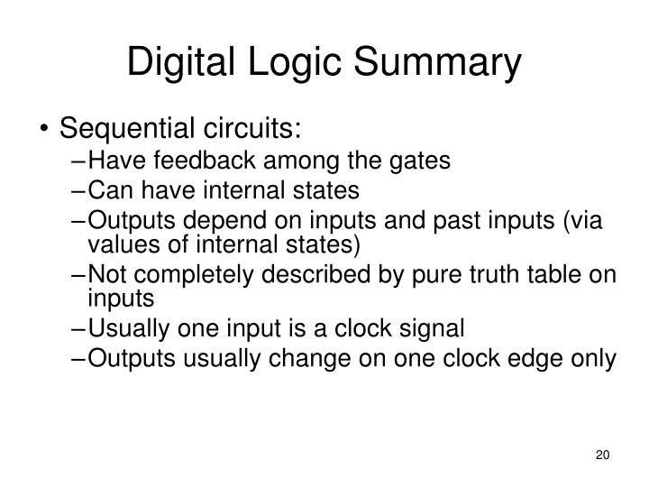 Digital Logic Summary